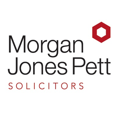 Rebranded Morgan Jones Pett Solicitors logo